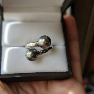Jewelry - French Polynesian convertible pearl earrings /ring